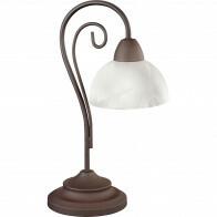 LED Tafellamp - Tafelverlichting - Trion Kantra - E14 Fitting - Rond - Roestkleur - Aluminium