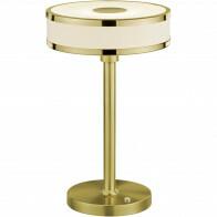 LED Tafellamp - Trion Agiany - 7W - Warm Wit 3000K - Dimbaar - Rond - Mat Goud - Aluminium