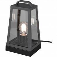 LED Tafellamp - Trion Aknaky - E27 Fitting - Vierkant - Mat Zwart - Aluminium
