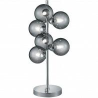 LED Tafellamp - Trion Alionisa - G9 Fitting - 6-lichts - Dimbaar - Rond - Glans Chroom Rookglas - Aluminium