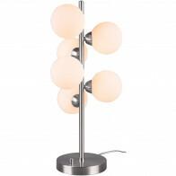 LED Tafellamp - Trion Alionisa - G9 Fitting - 6-lichts - Dimbaar - Rond - Mat Nikkel - Aluminium