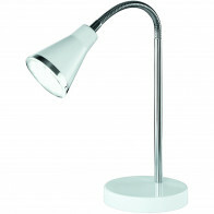 LED Tafellamp - Trion Arora - 3W - Warm Wit 3000K - Rond - Glans Wit - Kunststof