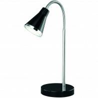 LED Tafellamp - Trion Arora - 3W - Warm Wit 3000K - Rond - Glans Zwart - Kunststof