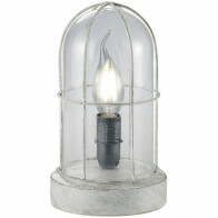 LED Tafellamp - Trion Brinity - E14 Fitting - Rond - Antiek Grijs - Aluminium