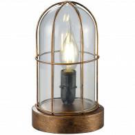 LED Tafellamp - Trion Brinity - E14 Fitting - Rond - Antiek Koper - Aluminium