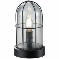 LED Tafellamp - Trion Brinity - E14 Fitting - Rond - Mat Zwart - Aluminium