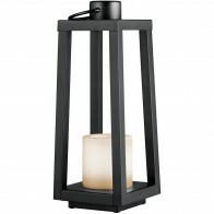 LED Tafellamp - Trion Loiny - Zonne-energie - Spatwaterdicht - Mat Zwart - Aluminium