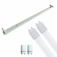 LED TL Armatuur met T8 Buis Incl. Starter - Aigi Dybolo - 150cm Dubbel - 44W - Helder/Koud Wit 6400K - Beschermingsgraad IP20