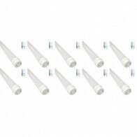 LED TL Buis T8 met Starter 10 Pack - 60cm 8W - Helder/Koud Wit 6400K