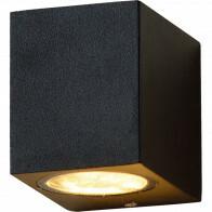 LED Tuinverlichting - Buitenlamp - Sanola Hoptron - GU10 Fitting - Vierkant - Mat Zwart - Aluminium