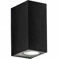 LED Tuinverlichting - Buitenlamp - Sanola Hoptron XL - GU10 Fitting - Vierkant - Mat Zwart - Aluminium