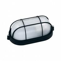 LED Tuinverlichting - Buitenlamp - Torina - Wand - Aluminium Mat Zwart - E27 - Ovaal
