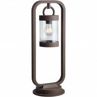 LED Tuinverlichting - Buitenlamp - Trion Semby - Staand - Lichtsensor - E27 Fitting - Roestkleur - Aluminium