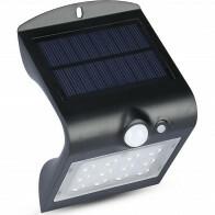 LED Tuinverlichting - Buitenlamp - Viron Ascin - Zonne-energie - Bewegingssensor - 1.5W - Natuurlijk Wit 4000K - Mat Zwart - Kunststof