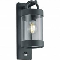 LED Tuinverlichting met Bewegingssensor - Wandlamp Buitenlamp - Trion Semby - E27 Fitting - Rond - Mat Antraciet - Aluminium