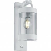 LED Tuinverlichting met Bewegingssensor - Wandlamp Buitenlamp - Trion Semby - E27 Fitting - Rond - Mat Wit - Aluminium