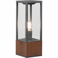 LED Tuinverlichting - Staande Buitenlamp - Trion Garinola - E27 Fitting - Rechthoek - Houtkleur - Natuur Hout