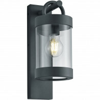 LED Tuinverlichting - Tuinlamp - Trion Semby - Wand - Lichtsensor - E27 Fitting - Mat Zwart - Aluminium