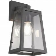 LED Tuinverlichting - Tuinlamp - Trion Aknaky - Wand - E27 Fitting - Mat Zwart - Aluminium