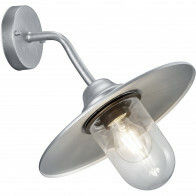 LED Tuinverlichting - Tuinlamp - Trion Brenionty - Wand - E27 Fitting - Mat Grijs - Aluminium