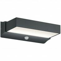 LED Tuinverlichting - Tuinlamp - Trion Conry - Wand - Bewegingssensor - 11W - Mat Zwart - Aluminium