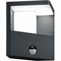 LED Tuinverlichting - Tuinlamp - Trion Gangy - Wand - Bewegingssensor - 9W - Mat Zwart - Aluminium