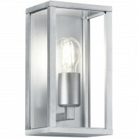 LED Tuinverlichting - Tuinlamp - Trion Garinola - Wand - E27 Fitting - Mat Grijs - Aluminium