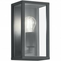 LED Tuinverlichting - Tuinlamp - Trion Garinola - Wand - E27 Fitting - Mat Zwart - Aluminium