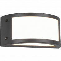 LED Tuinverlichting - Tuinlamp - Trion Keraly - Wand - 12W - Mat Antraciet - Kunststof