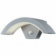 LED Tuinverlichting - Tuinlamp - Trion Ohiny - Wand - Bewegingssensor - 6W - Mat Titaan - Aluminium