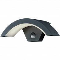 LED Tuinverlichting - Tuinlamp - Trion Ohiny - Wand - Bewegingssensor - 6W - Mat Zwart - Aluminium