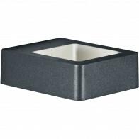 LED Tuinverlichting - Tuinlamp - Trion Riona - Wand - 4W - Warm Wit 3000K - Mat Antraciet - Aluminium
