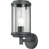 LED Tuinverlichting - Tuinlamp - Trion Taniron - Wand - E27 Fitting - Mat Zwart - Aluminium