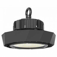 LED UFO High Bay 100W - Viron Manisa - Magazijnverlichting - Waterdicht IP65 - Helder/Koud Wit 6400K - Mat Zwart - Aluminium