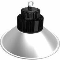 LED UFO High Bay 150W - Aigi Mania - Magazijnverlichting - Waterdicht IP65 - Natuurlijk Wit 4000K - Mat Zwart - Aluminium