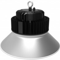 LED UFO High Bay 200W - Aigi Mania - Magazijnverlichting - Waterdicht IP65 - Helder/Koud Wit 6000K - Mat Zwart - Aluminium