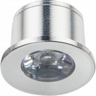 LED Veranda Spot Verlichting - 1W - Natuurlijk Wit 4000K - Inbouw - Rond - Mat Zilver - Aluminium - Ø31mm