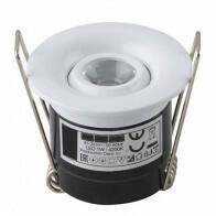 LED Veranda Spot Verlichting - Inbouw Rond 1W - Natuurlijk Wit 4200K - Mat Wit Aluminium - Ø41mm