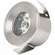 LED Veranda Spot Verlichting - Mony - Inbouw Rond 1W - Natuurlijk Wit 4200K - Mat Chroom Aluminium - Ø33mm