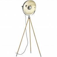 LED Vloerlamp - Trion Delvira - E27 Fitting - Verstelbaar - Rond - Antiek Nikkel - Aluminium
