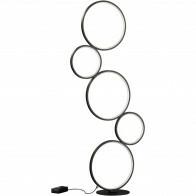LED Vloerlamp - Trion Rondy - 36W - Warm Wit 3000K - Dimbaar - Rond - Mat Zwart - Aluminium