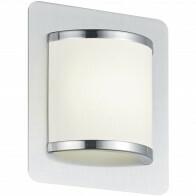 LED Wandlamp - Trion Agiany - 5W - Warm Wit 3000K - Rechthoek - Mat Nikkel - Aluminium/Textiel