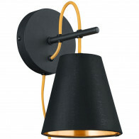 LED Wandlamp - Wandverlichting - Trion Andra - E14 Fitting - Rond - Mat Zwart - Aluminium
