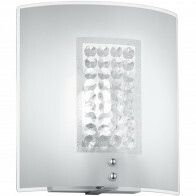 LED Wandlamp - Wandverlichting - Trion Cornio - E14 Fitting - Rechthoek - Mat Chroom - Aluminium