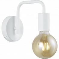 LED Wandlamp - Wandverlichting - Trion Dolla - E27 Fitting - Rond - Mat Wit - Aluminium