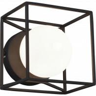 LED Wandlamp - Wandverlichting - Trion Gebia - G9 Fitting - Vierkant - Mat Zwart - Aluminium