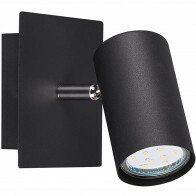 LED Wandspot - Trion Mary - GU10 Fitting - Rond - Mat Zwart - Aluminium