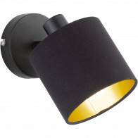 LED Wandspot - Trion Torry - E14 Fitting - Rond - Mat Zwart - Aluminium