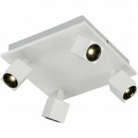 OSRAM - LED Plafondspot - Trion Klipo - 24W - Warm Wit 3000K - 4-lichts - Vierkant - Mat Wit - Aluminium