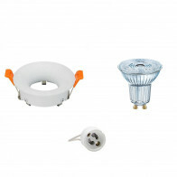 OSRAM - LED Spot Set - Parathom PAR16 930 36D - GU10 Fitting - Dimbaar - Inbouw Rond - Mat Wit - 3.7W - Warm Wit 3000K - Ø85mm